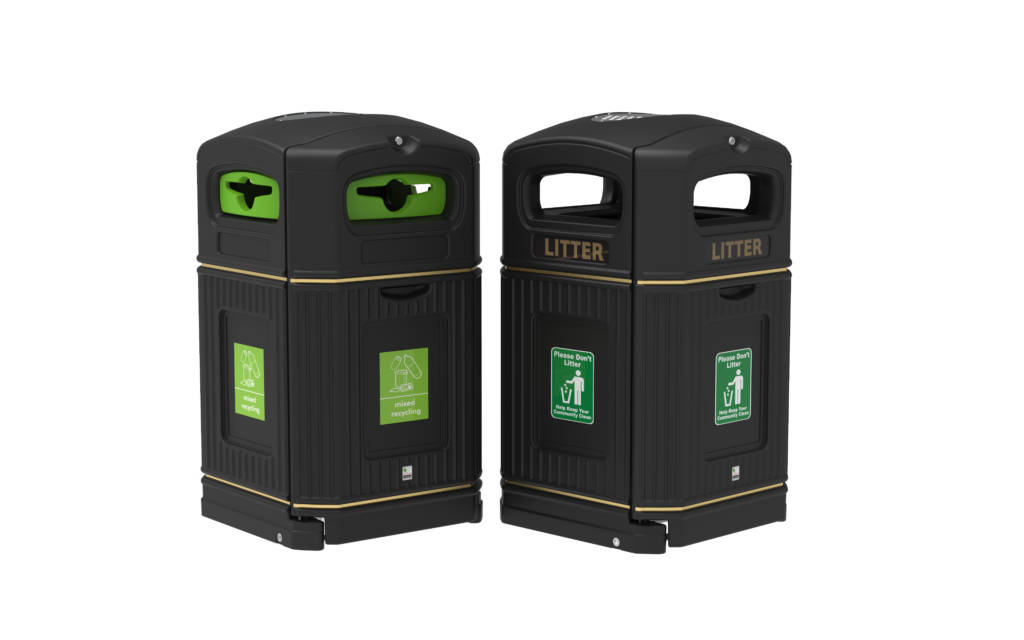on-the-go recycling bin