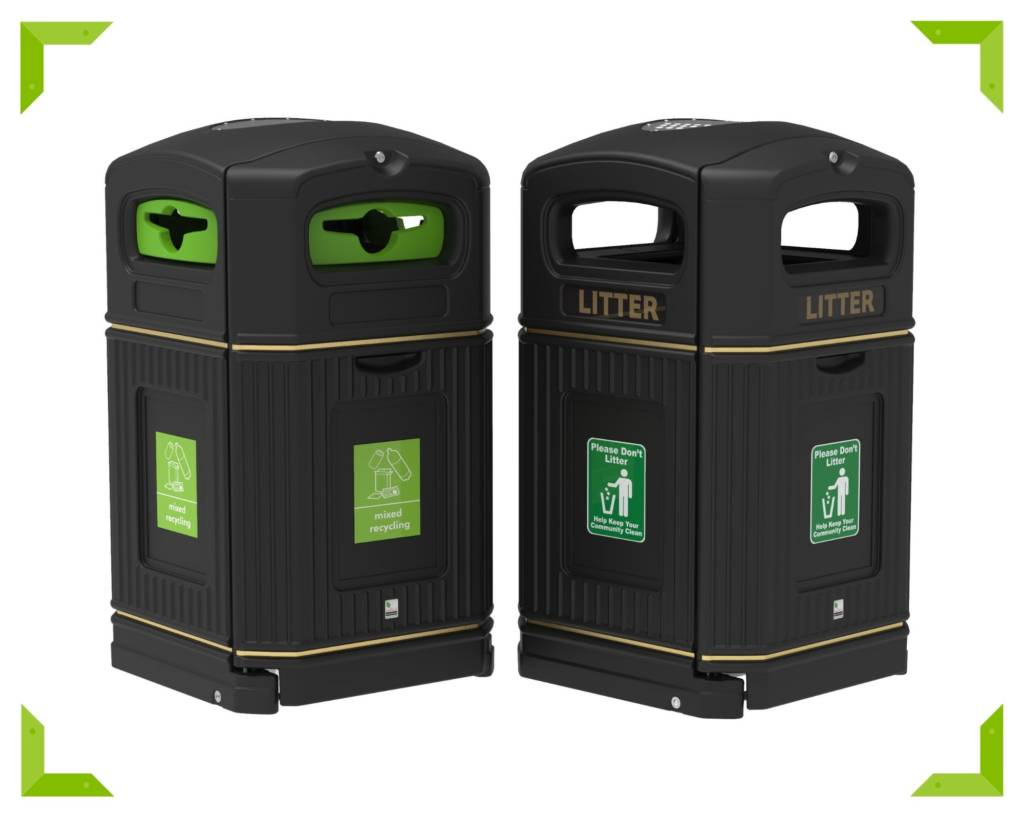 Robust bins to keep green spaces clean