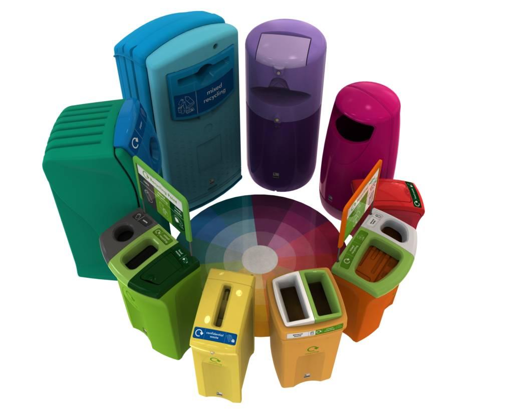 Coloured Bins Reinforce Branding